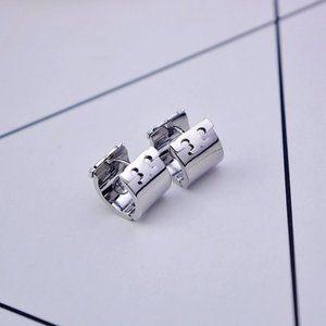 Tory Burch Silver Glossy Earrings